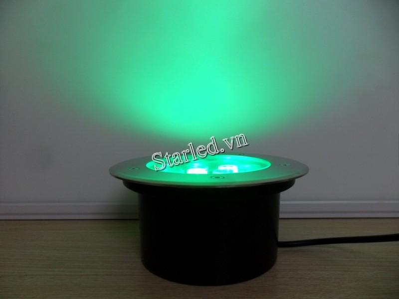 Đèn led âm sàn 9w đổi màu