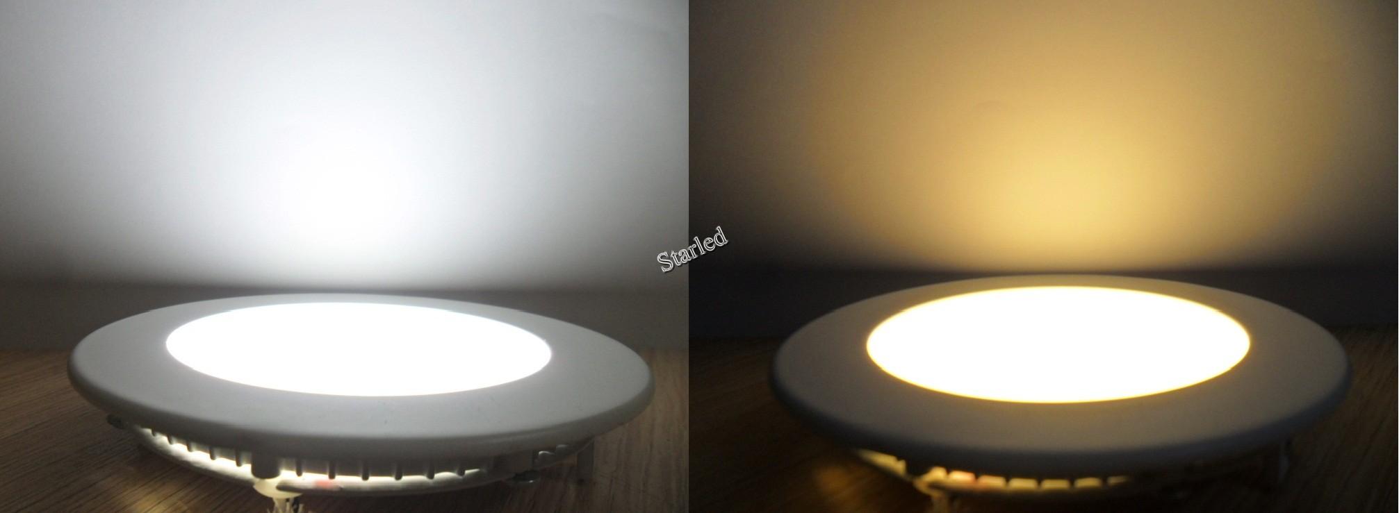 Đèn led âm trần siêu mỏng 6w đổi màu
