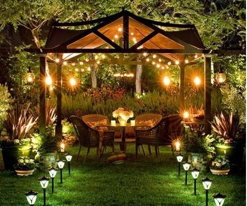 Đèn led trang trí vườn